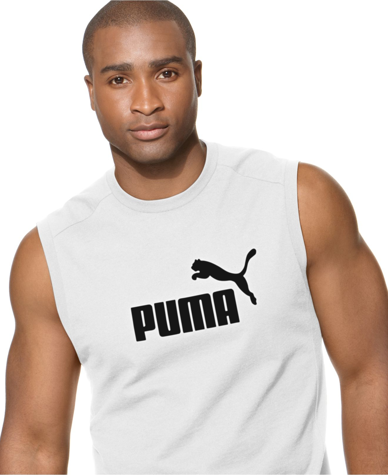 1738e44c98a PUMA No 1. Logo Sleeveless T-Shirt in Black for Men - Lyst