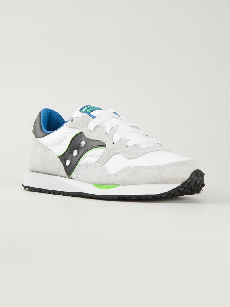 Saucony Panelled Sneakers In White For Men Lyst