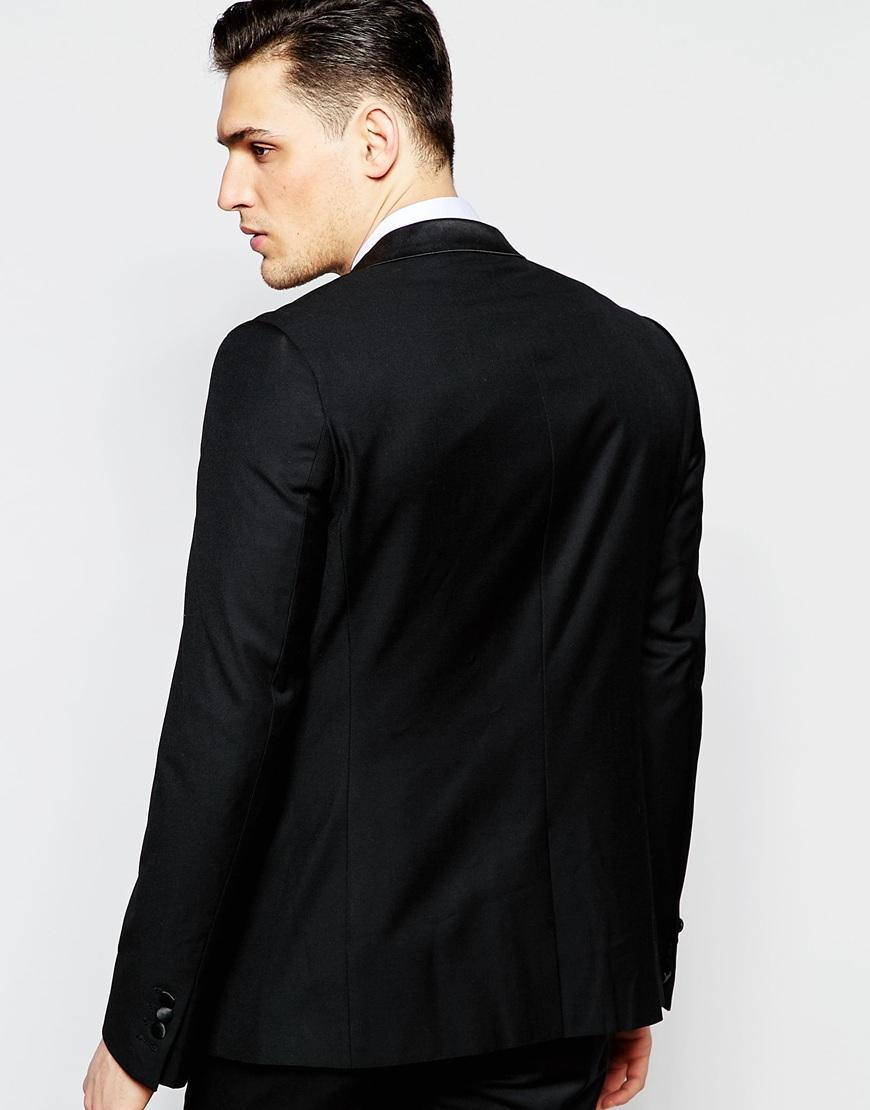 Antony Morato Tuxedo Jacket In Super Slim Fit In Black For