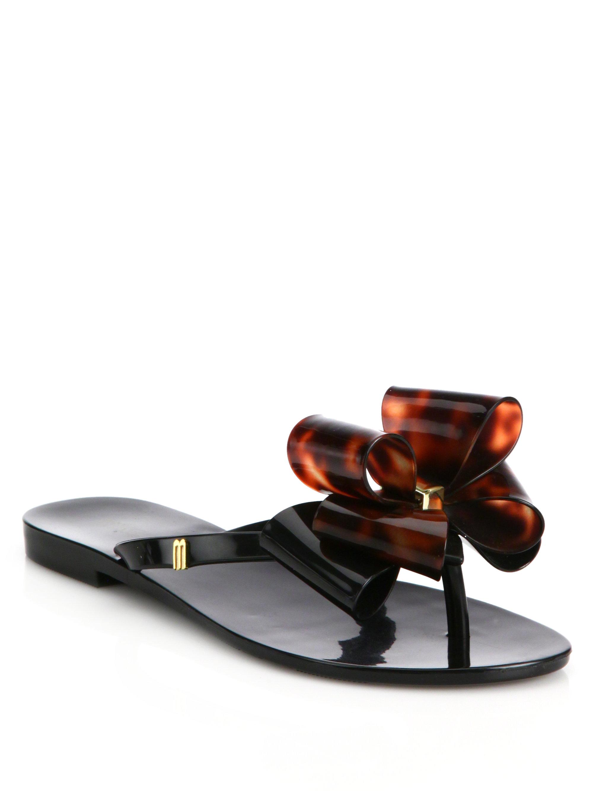 51a48bf9c53e8 Lyst - Melissa Harmonic Ix Bow Sandals in Black