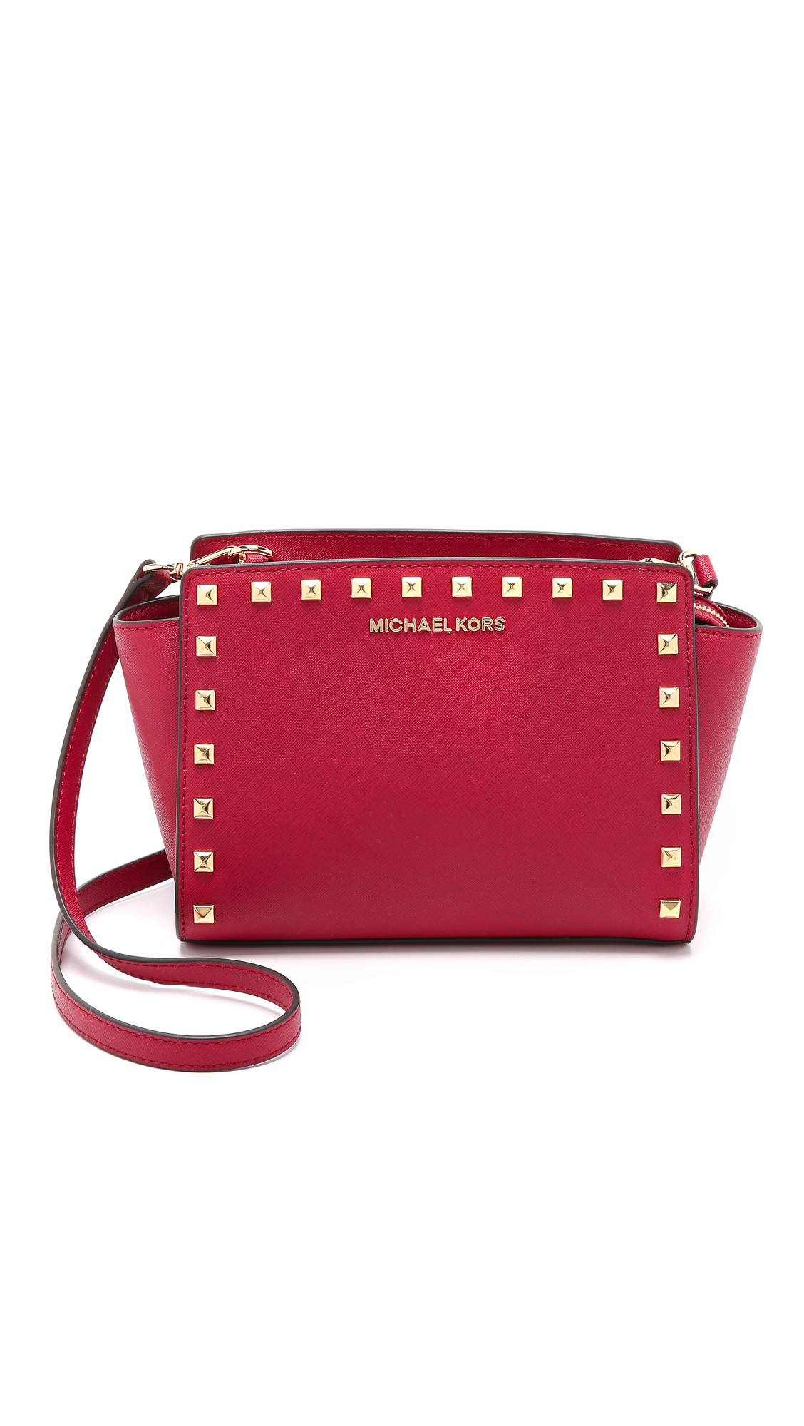 f7e9fc79eeff ... discount code for michael michael kors selma stud medium messenger bag  cherry in red d652c 0ab01