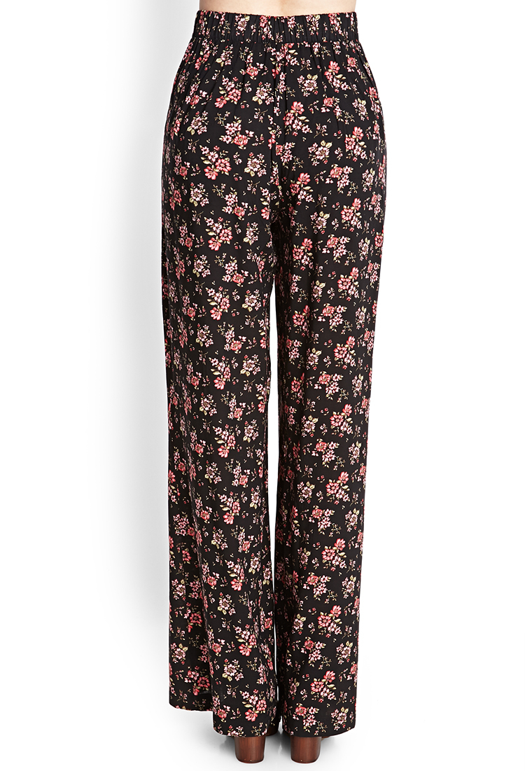 Forever 21 Flowy Floral Palazzo Pants Lyst