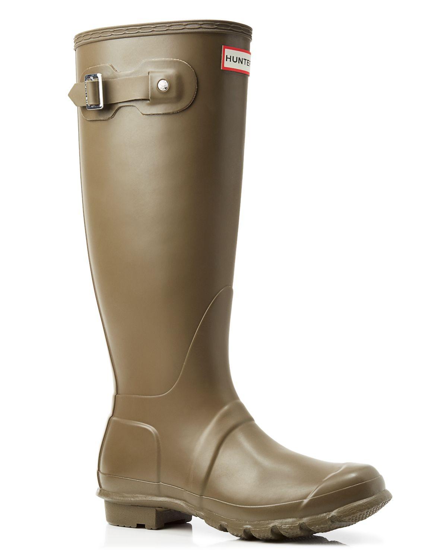 Hunter Rain Boots - Original Tall in Green (Swamp Green ...