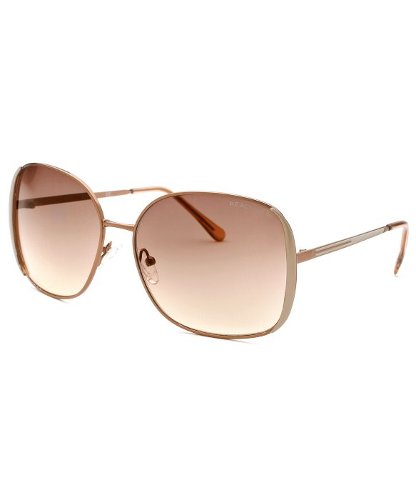Kenneth Cole Sunglasses Reaction  kenneth cole reaction women s square bronze tone sunglasses in