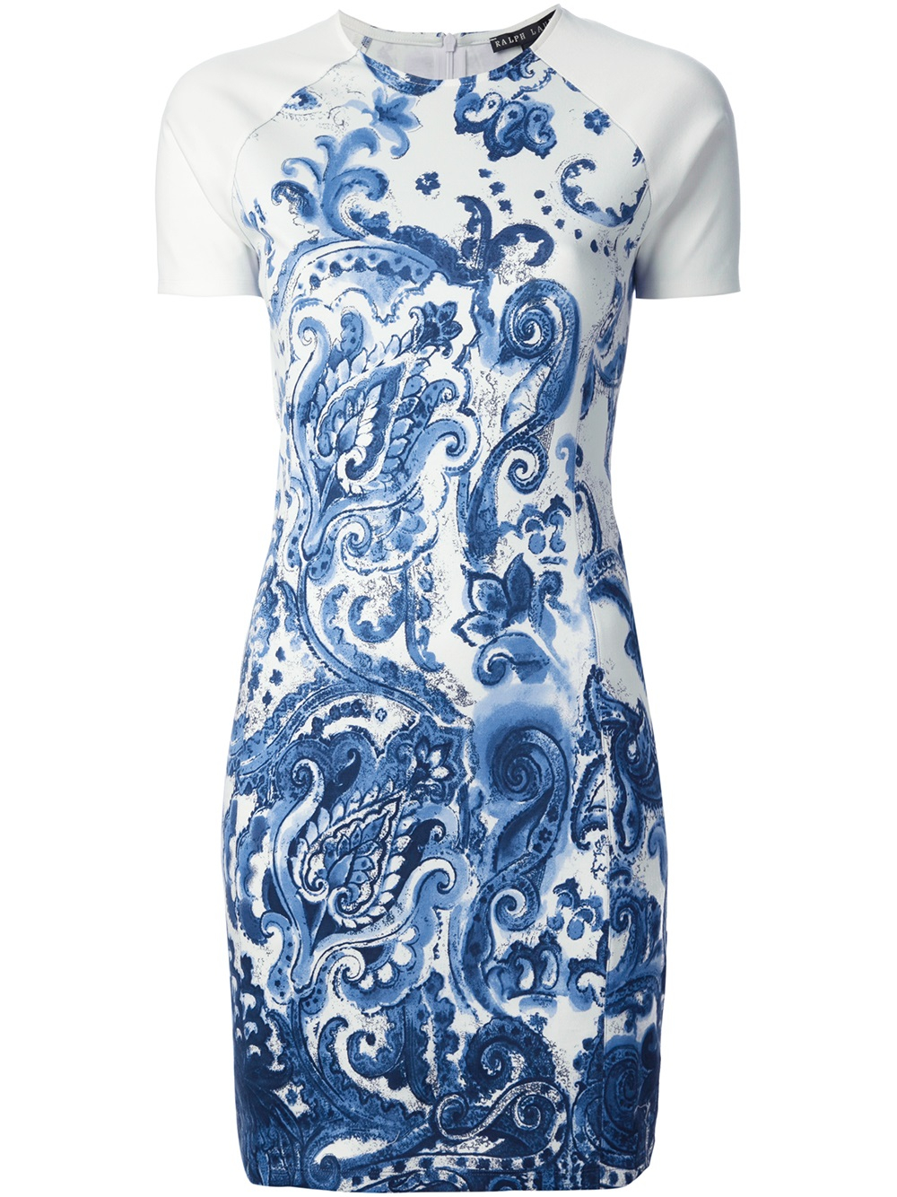Ralph Lauren Black Label Fitted Floral Print Dress In