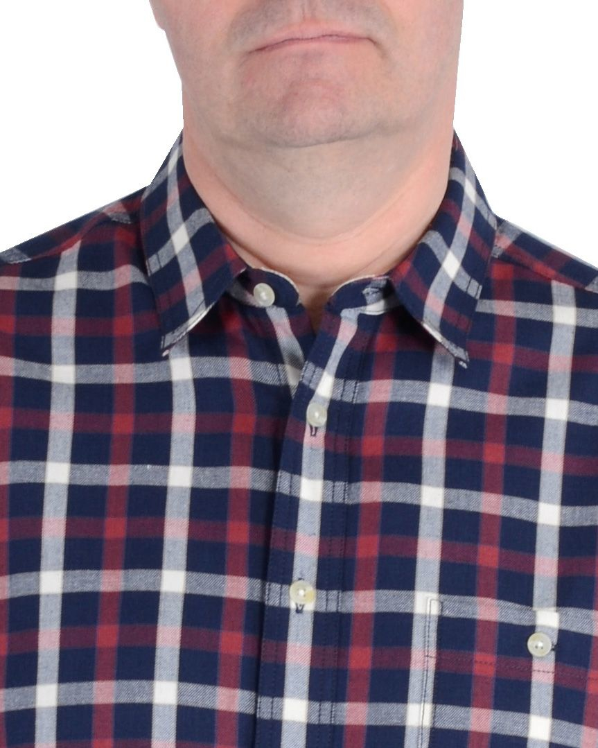 Double Two Bar Harbour Casual Shirt in Navy (Blue) for Men
