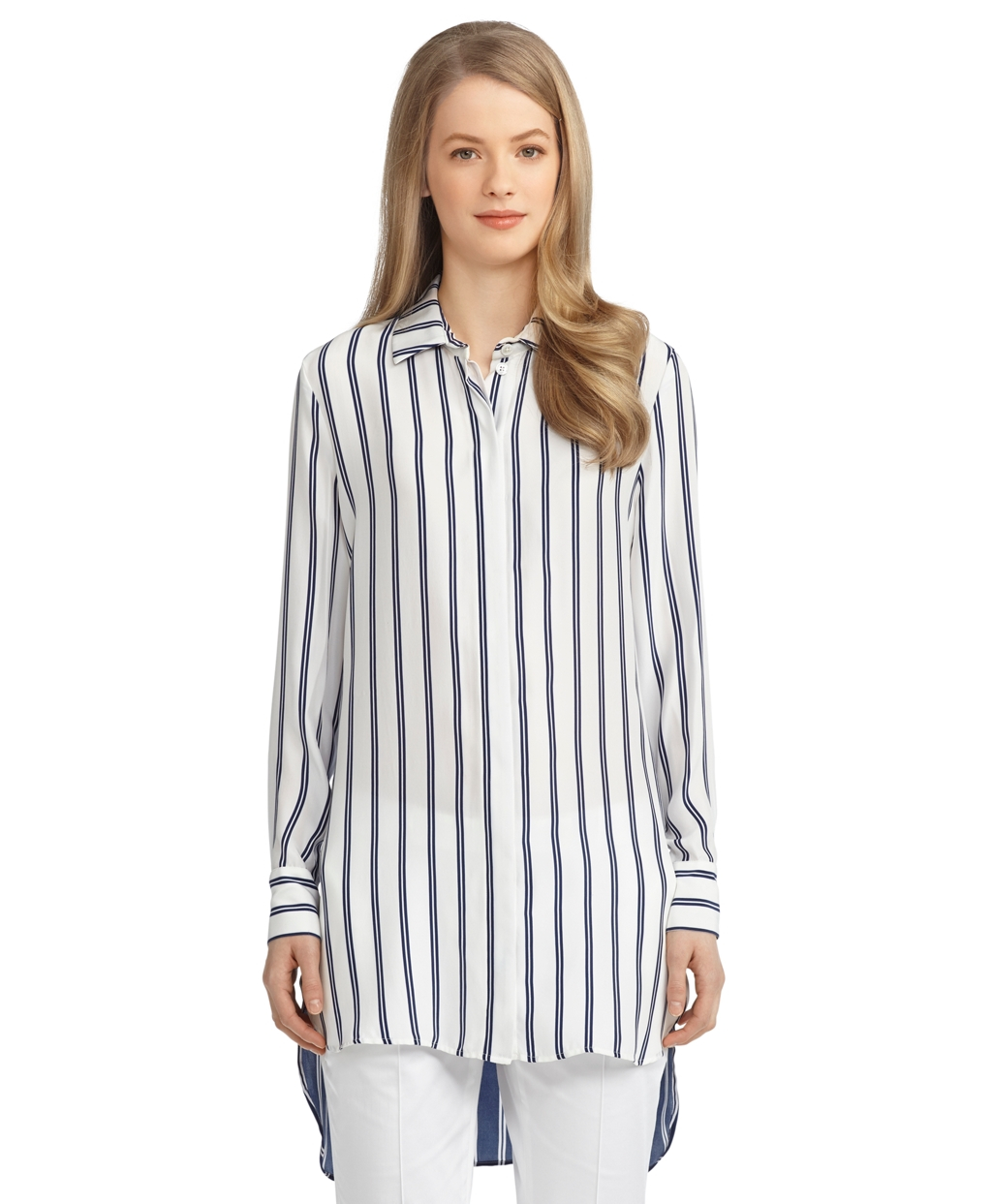 Lyst Brooks Brothers Silk Double Stripe Button Down
