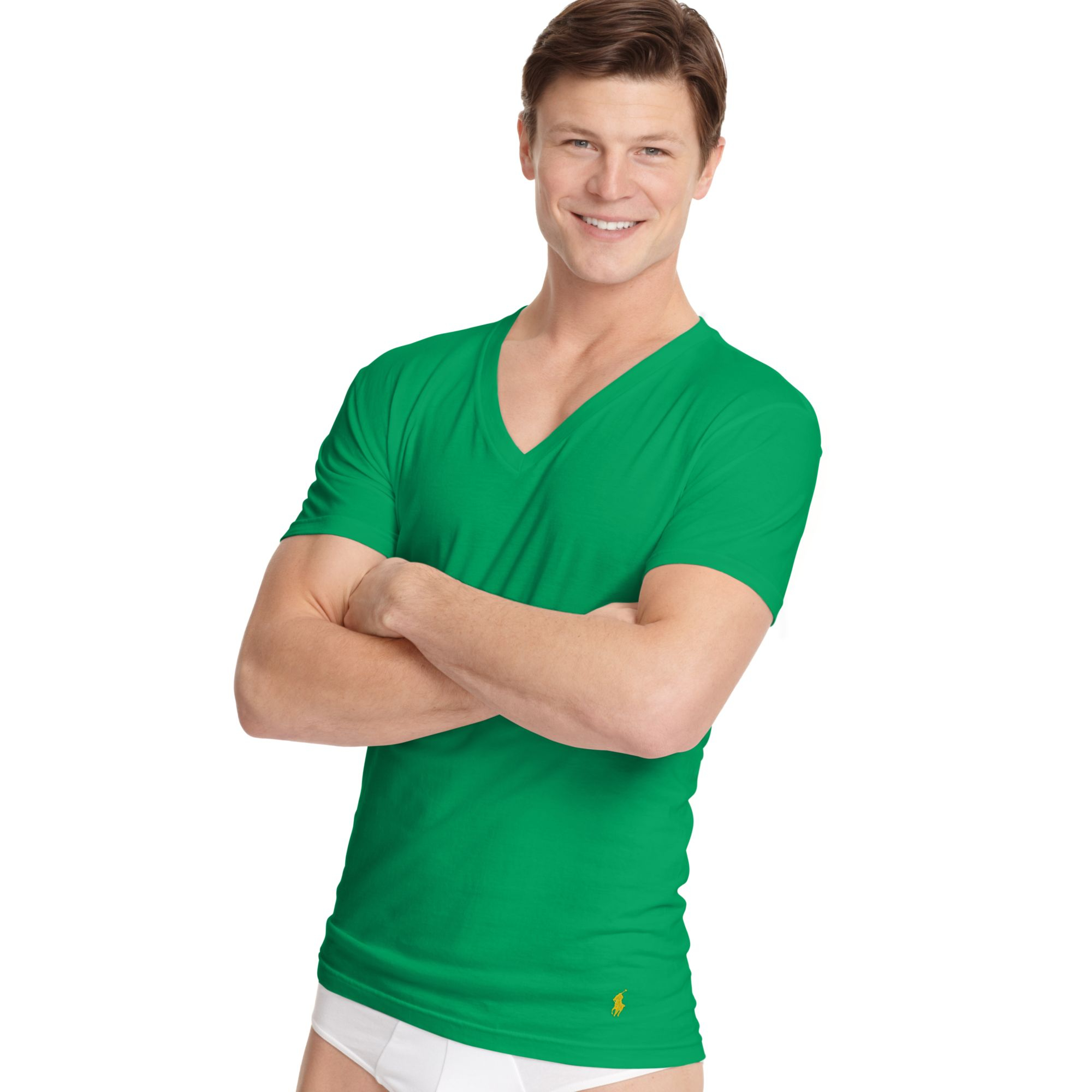 Polo Ralph Lauren Men's Big and Tall Classic-Fit V-Neck Short-Sleeve Cotton Jersey T-Shirt Limited-Time Special $