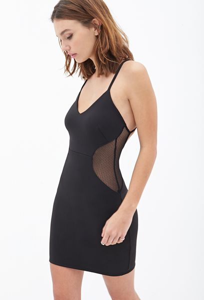 Forever 21 Cutout Bodycon Dress in Black | Lyst - photo #24