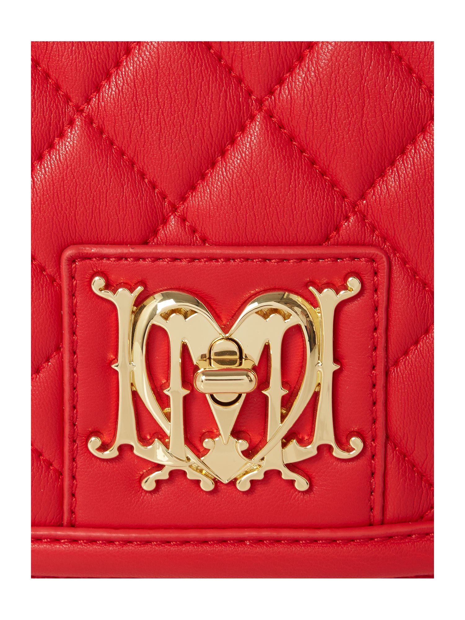 Love Moschino Red Mini Quilt Cross Body Bag
