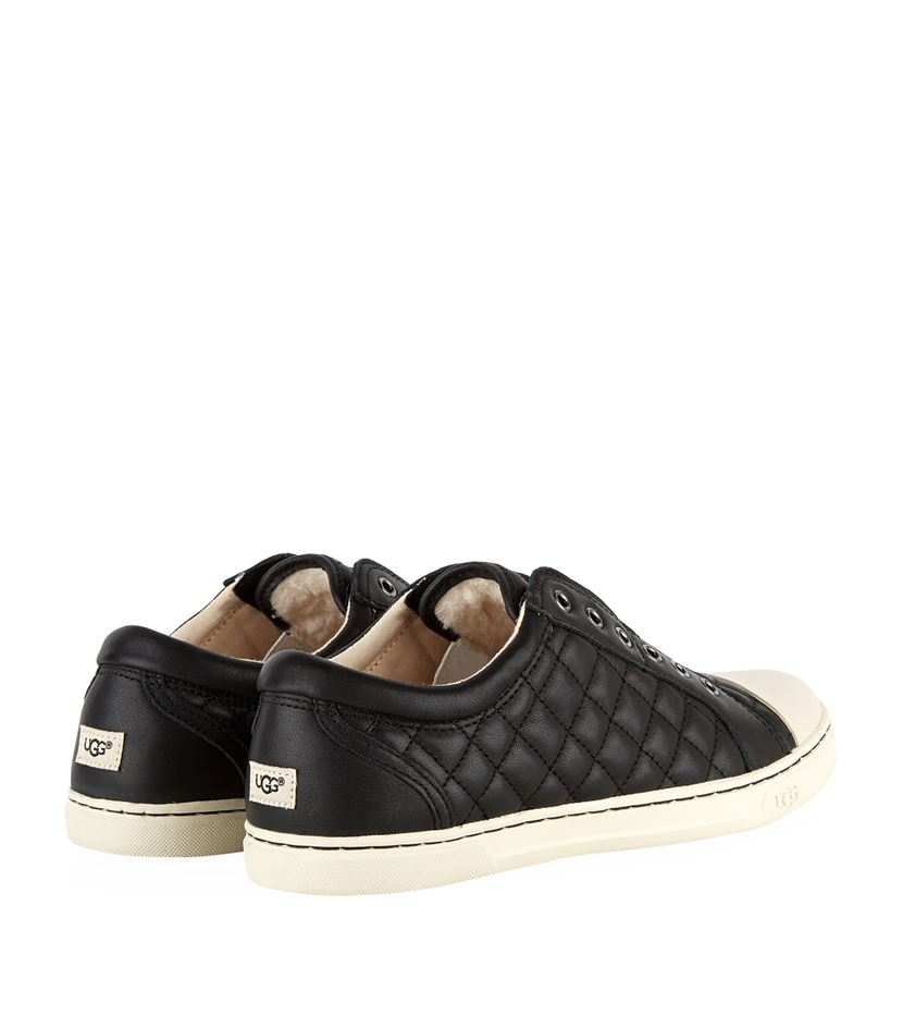 UGG Jemma Quilted Sneaker in Black - Lyst