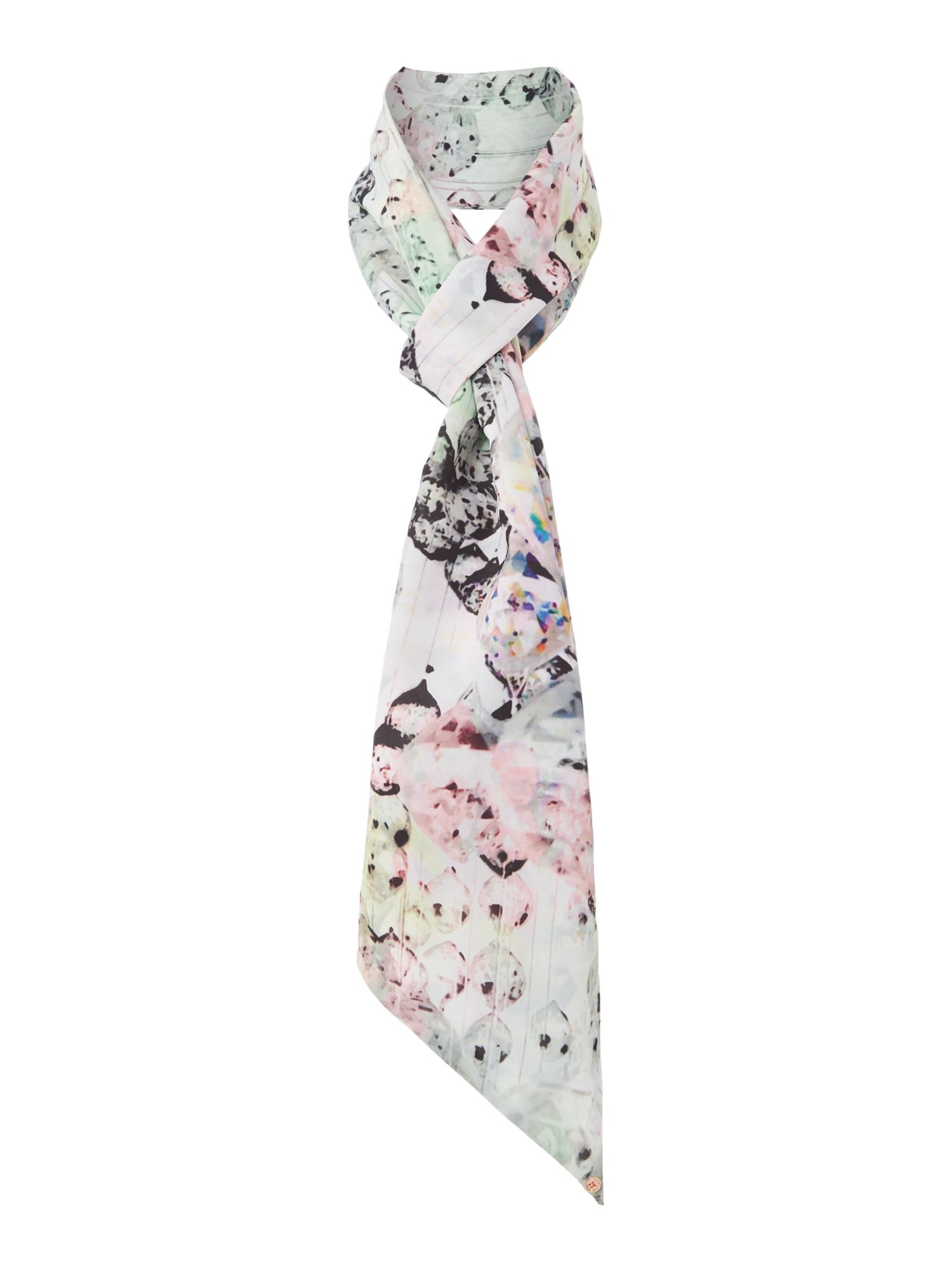254149607edea Ted Baker Crystal Droplets Skinny Scarf In Blue Lyst