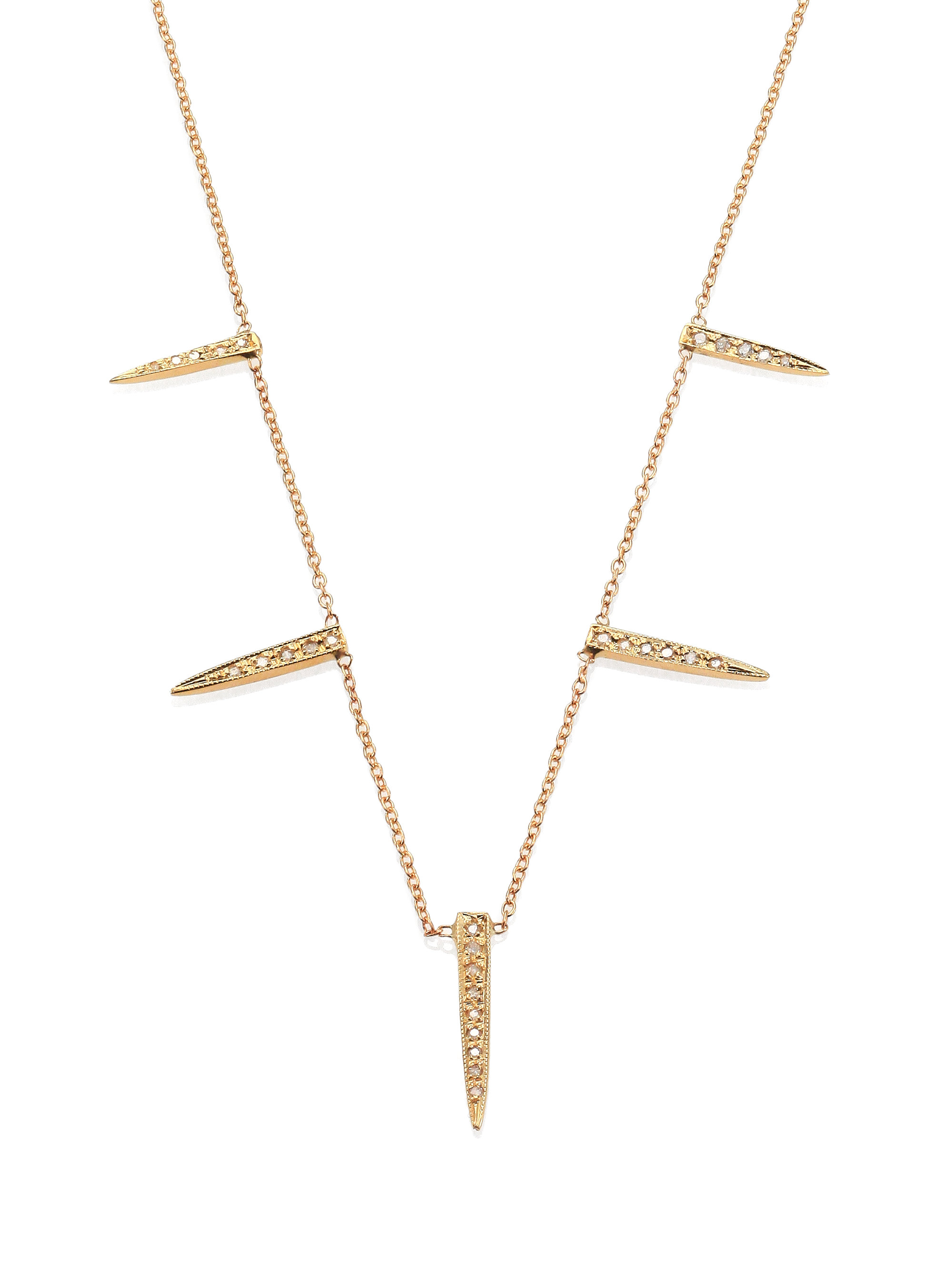 in jacq horn revolve dp double necklace aiche jacquie gold