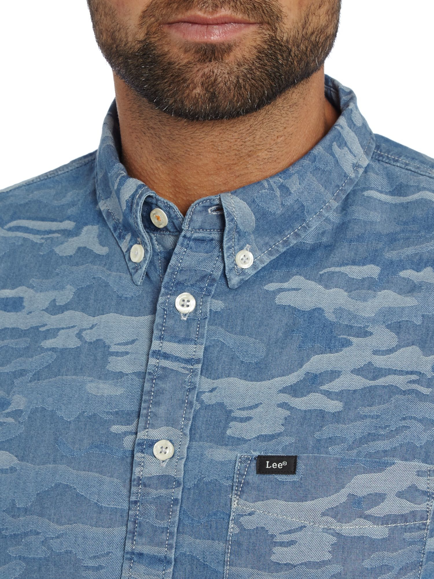 Lyst Lee Jeans Classic Fit Button Down Camo Shirt In