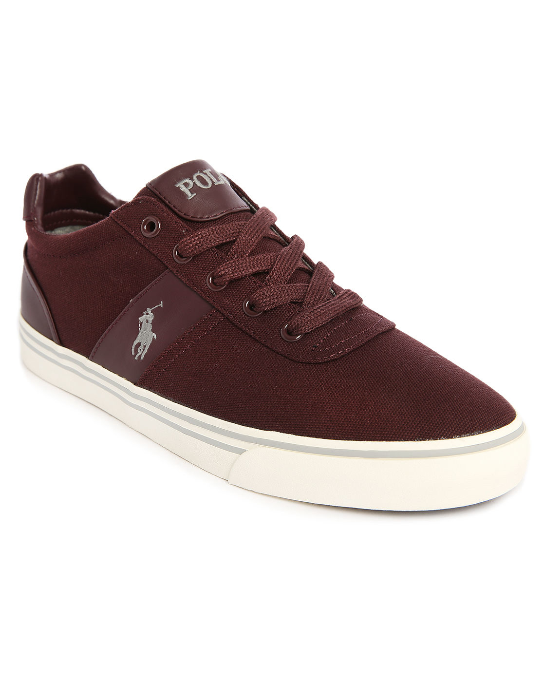 polo ralph lauren hanford burgundy canvas sneakers in. Black Bedroom Furniture Sets. Home Design Ideas