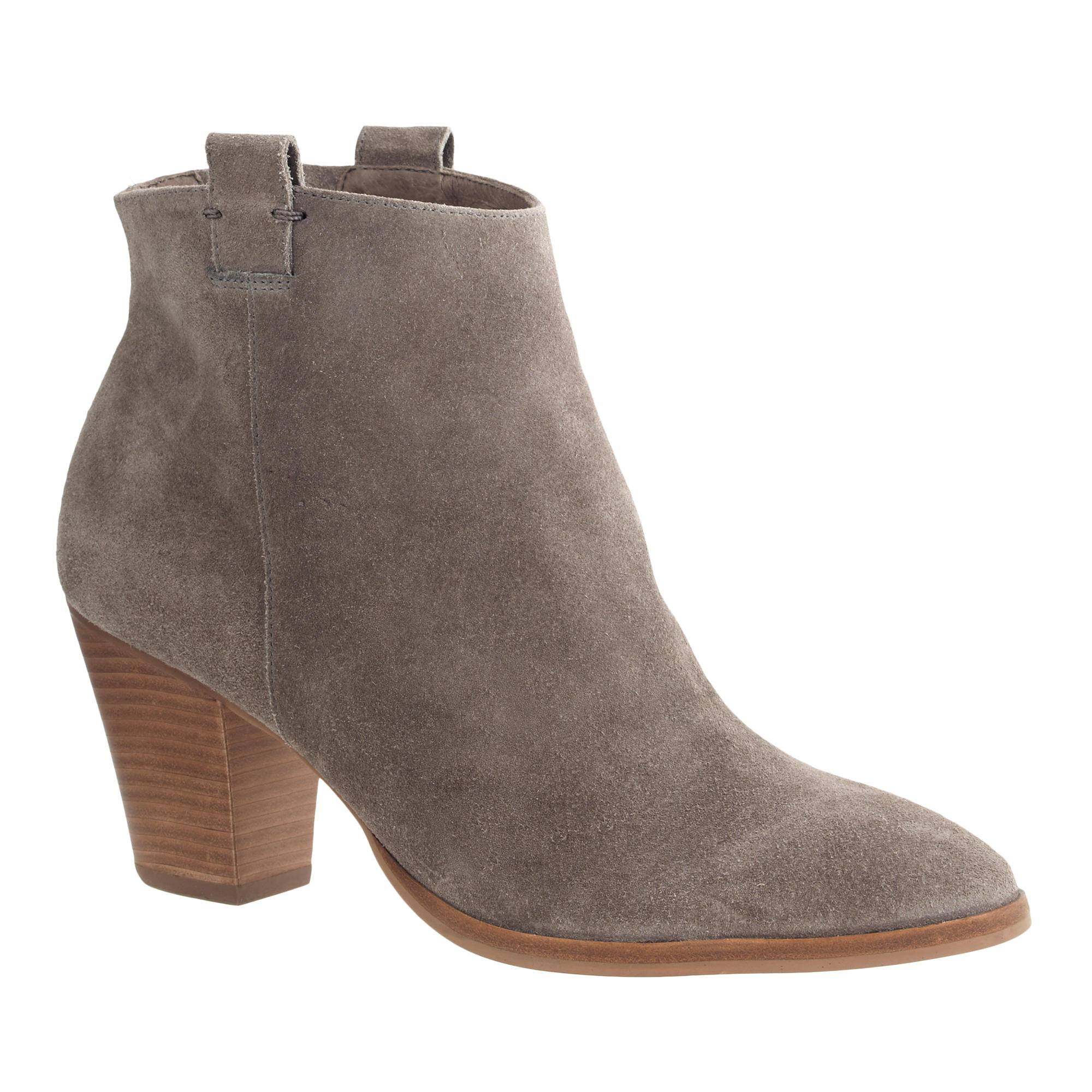 Jcrew Eaton Suede Ankle Boots In Gray - Lyst-2337