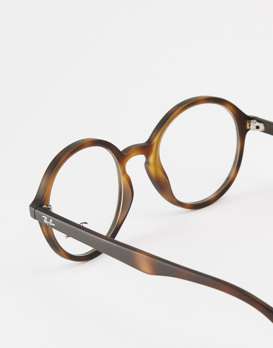 Designer Eyeglass Frames Austin Tx : Ray-ban Round Optical Glasses Rx7075 in Brown for Men Lyst
