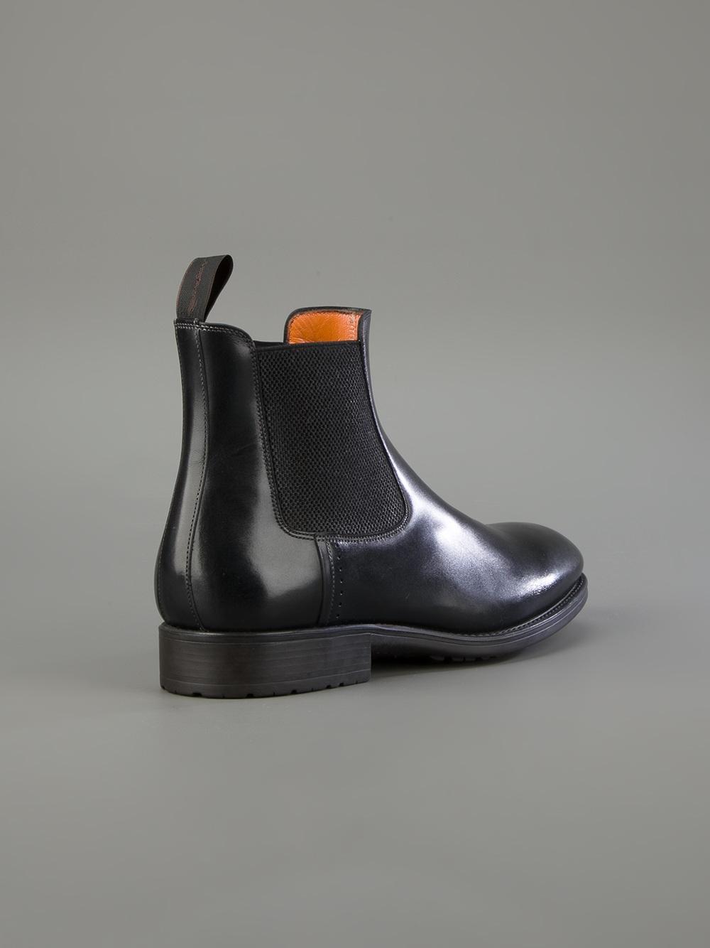 Santoni Beatles Boot In Black For Men Lyst