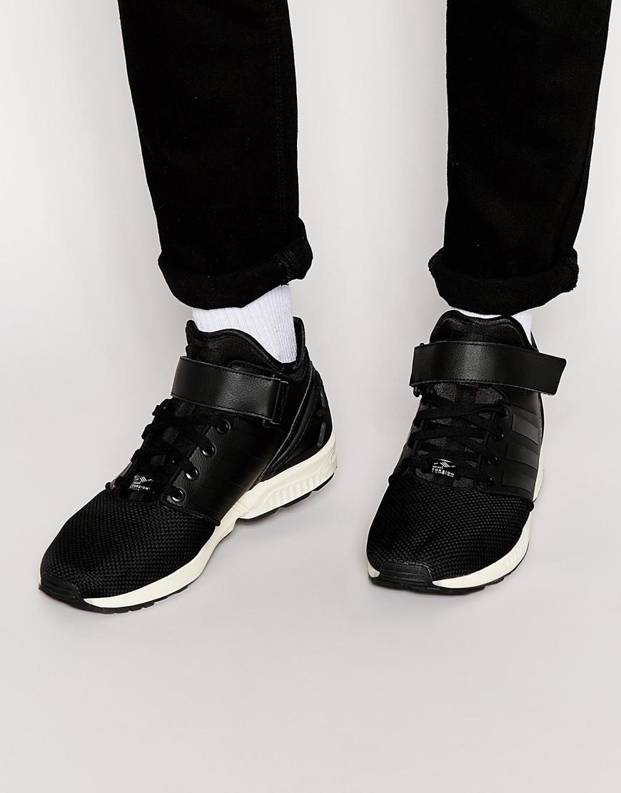 Buy adidas Originals Mens ZX Flux Plus Trainers Black/Vintage