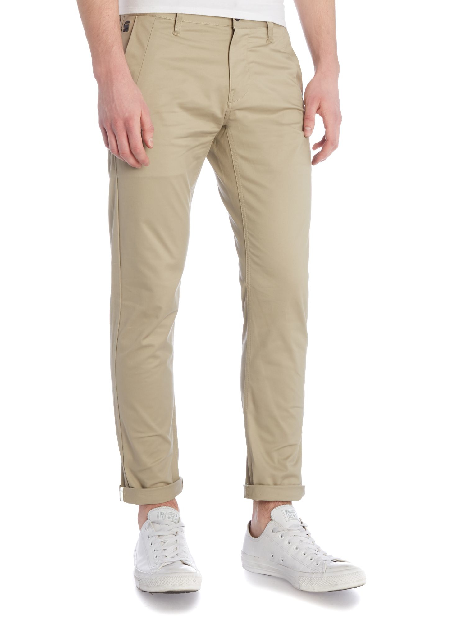 g star raw bronson slim fit stretch chino in natural for. Black Bedroom Furniture Sets. Home Design Ideas