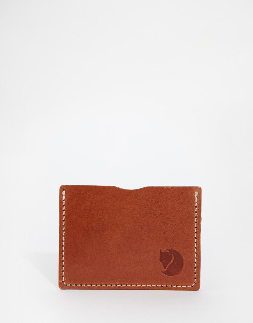 Lyst Fjallraven Ovik Leather Card Holder In Brown For Men