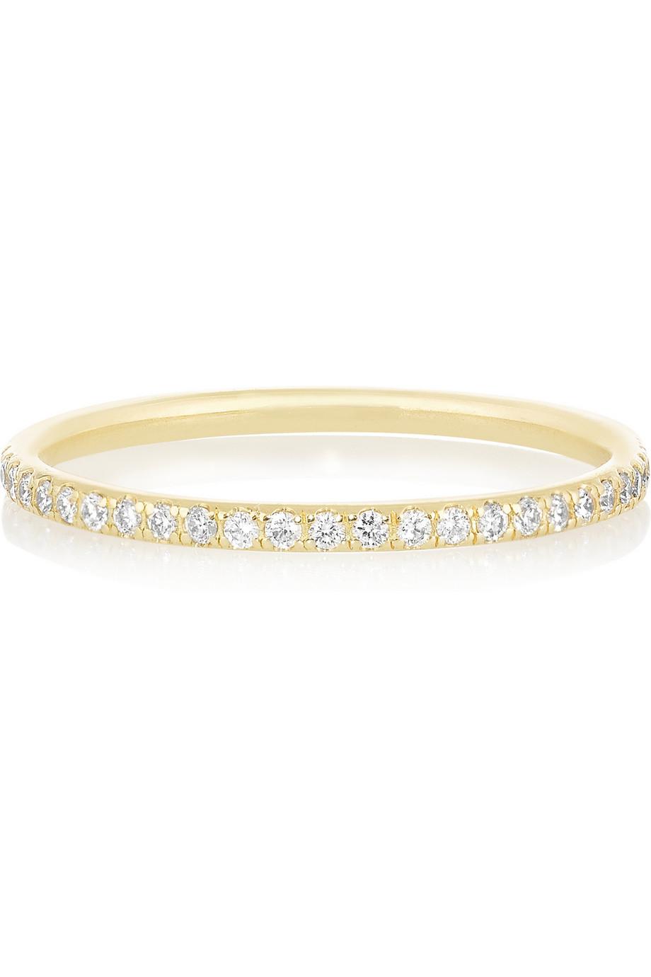 Womens Yellow Diamond & Gold Thread Band Ileana Makri XhrVQ05W6