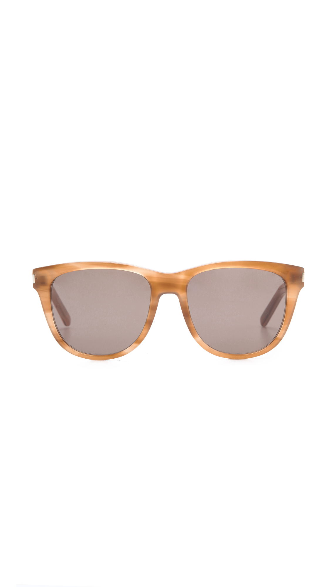 734f177f9da2 Lyst - Saint Laurent Classic Preppy Rounded Sunglasses - Honey brown ...