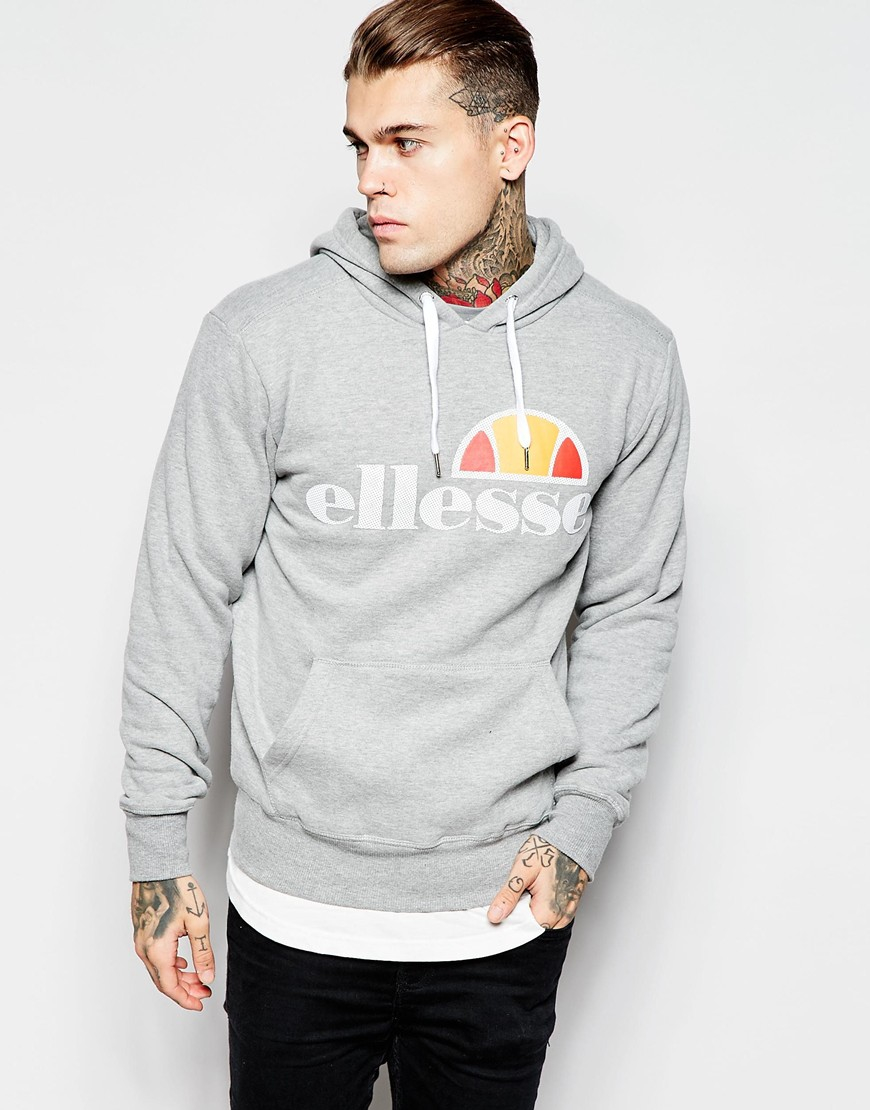 ddd00767 Ellesse Gray Hoodie With Perforated Logo for men