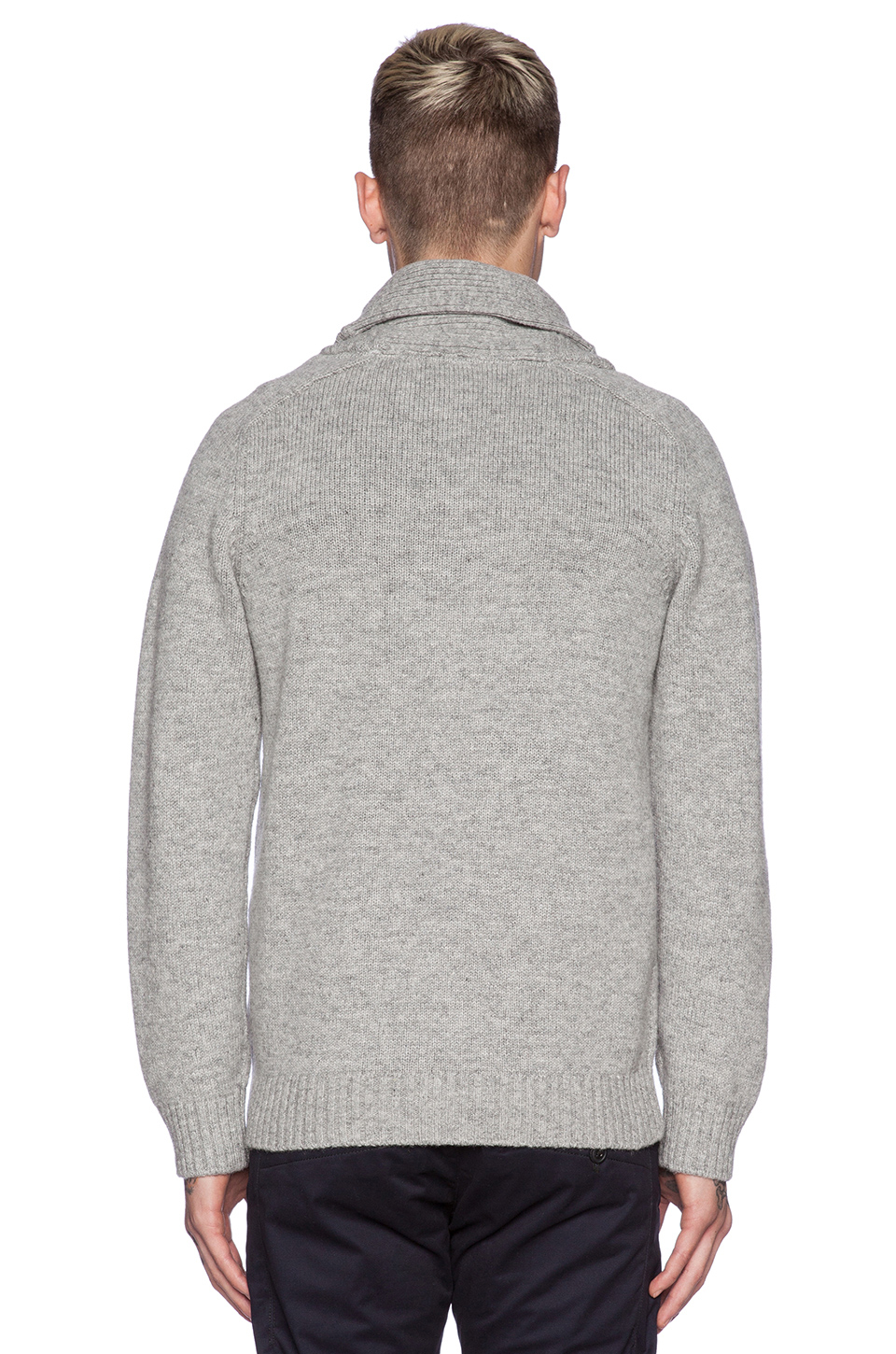 lyst g star raw gammit shawl collar sweater in gray for men. Black Bedroom Furniture Sets. Home Design Ideas