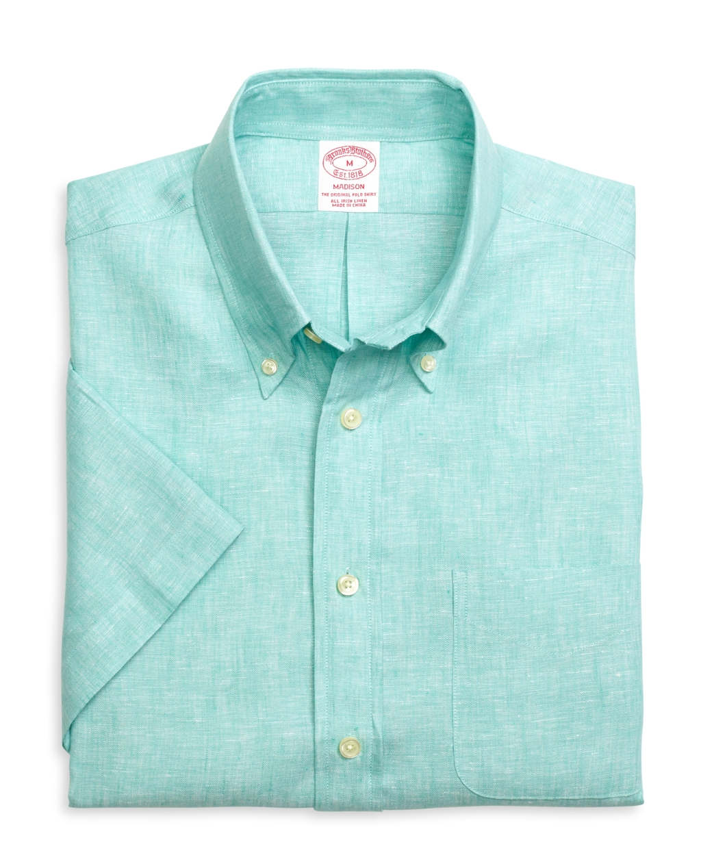 Brooks brothers madison fit linen short sleeve sport shirt Brooks brothers shirt size guide