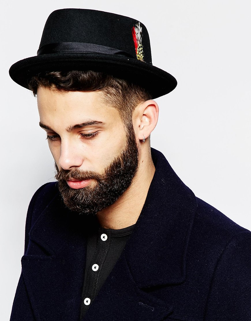 888e9085c21 ... Lyst - Brixton Pork Pie Hat in Black for Men really cheap 38a97 06f98  ...