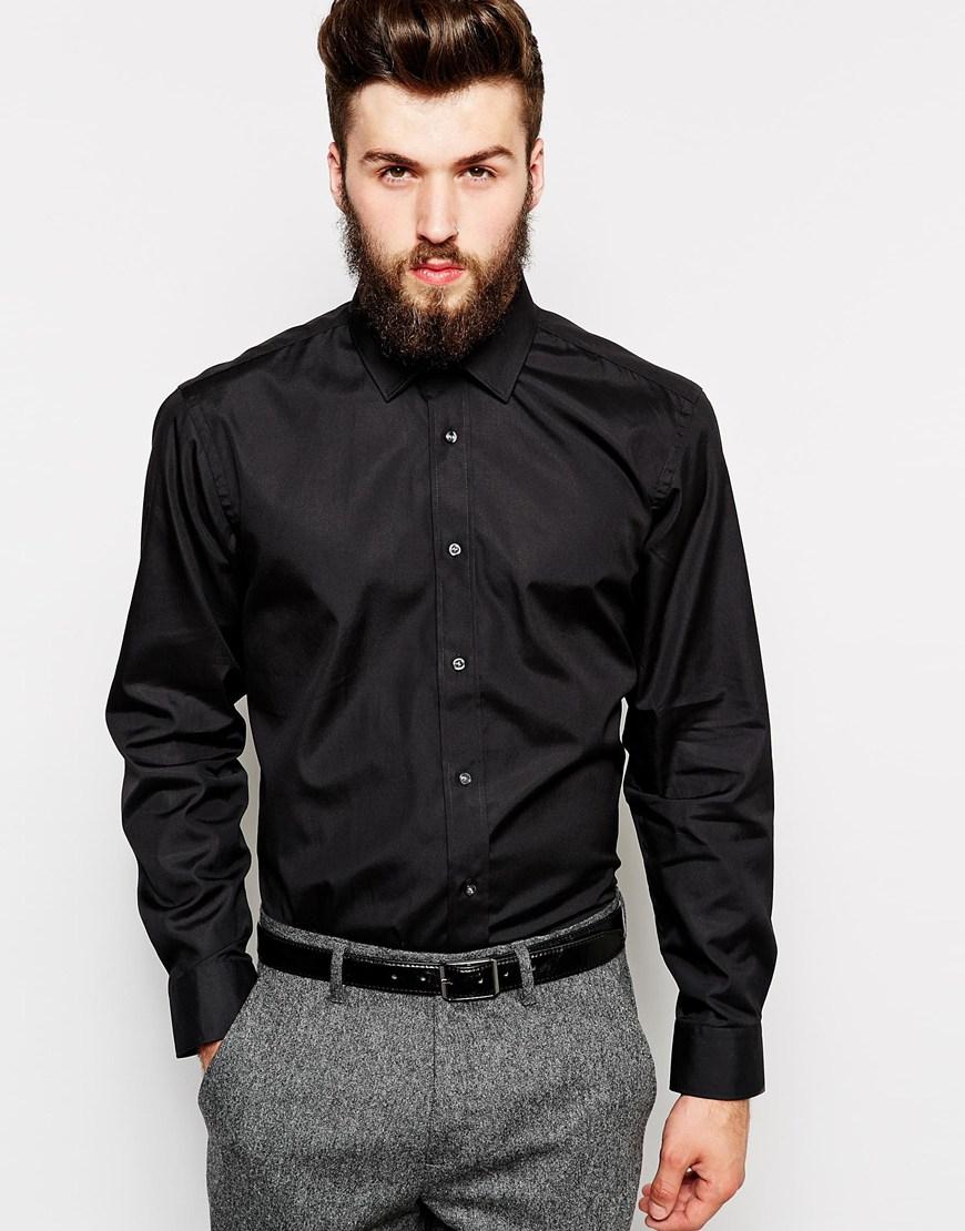 Lyst - Ted baker Formal Shirt in Black for Men