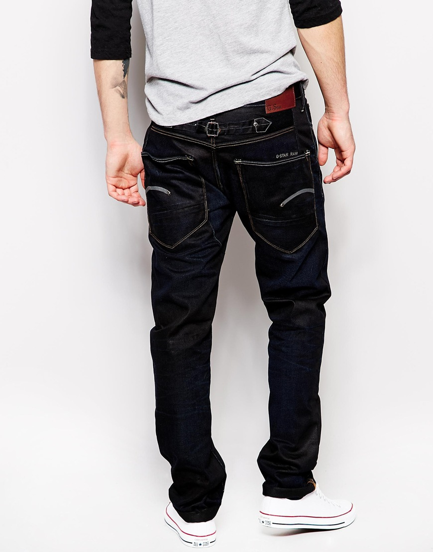 lyst g star raw g star jeans blades regular tapered indigo aged in blue for men. Black Bedroom Furniture Sets. Home Design Ideas