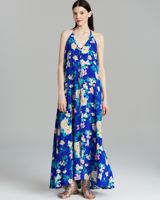 8907bef62ca4 Lyst - Yumi Kim Maxi Dress - Sasha Vintage Garden Silk in Blue