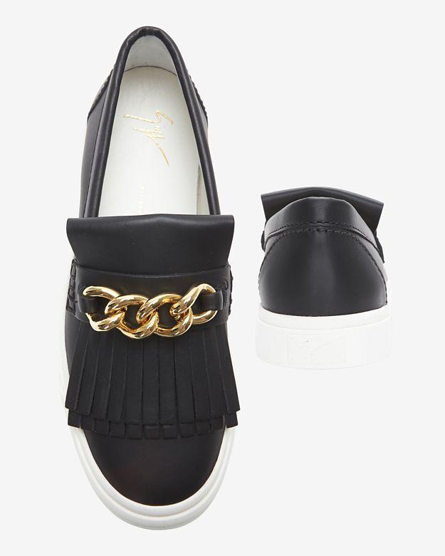 giuseppe zanotti fringe sneakers for women