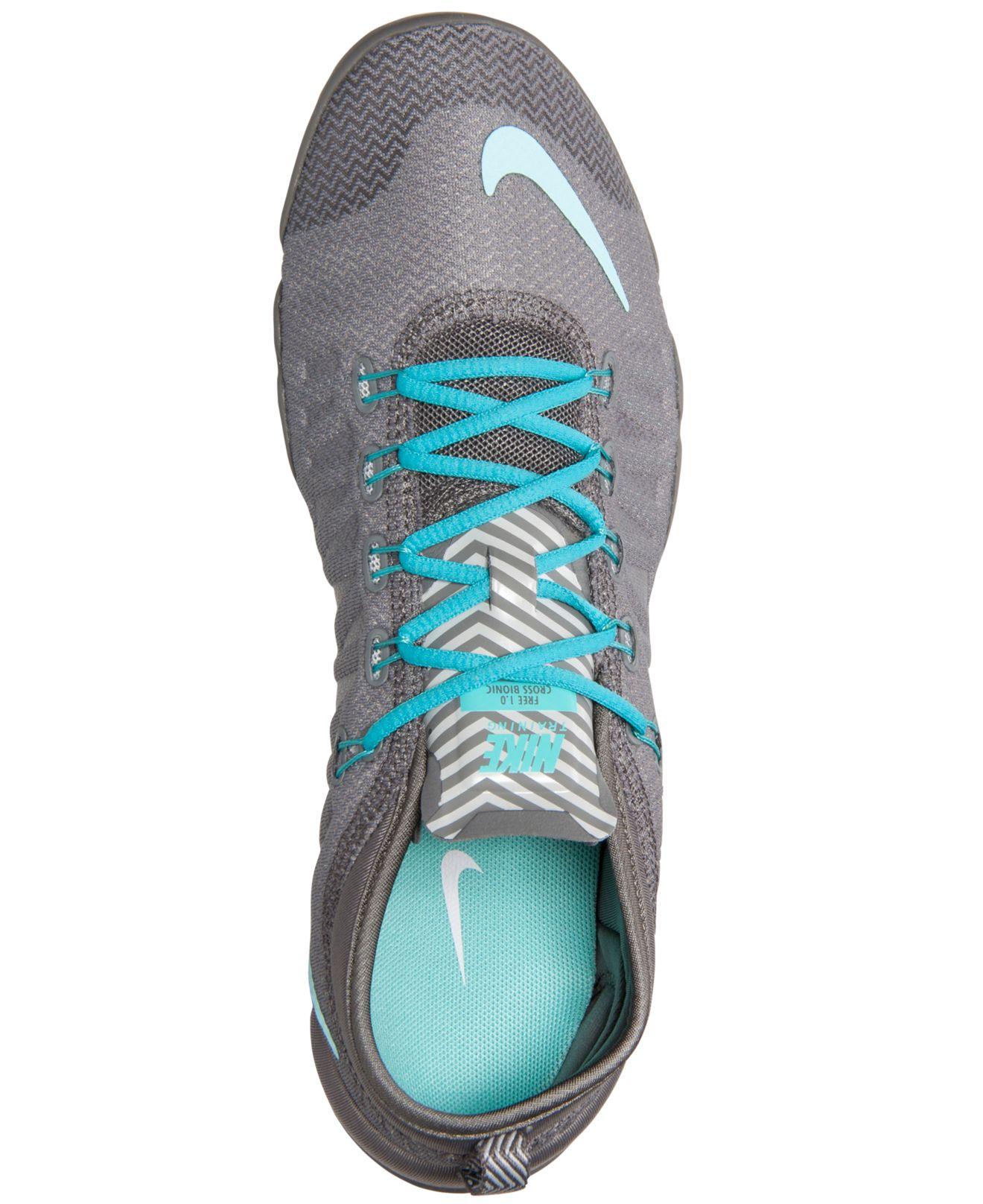 b450edd05b9e ... Lyst - Nike Women s Free 1.0 Cross Bionic Training Sneakers From Finish  Line in Gray ...