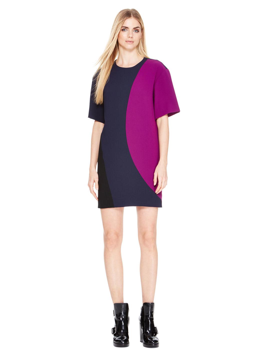 Lyst Dkny Colorblocked Dress In Blue