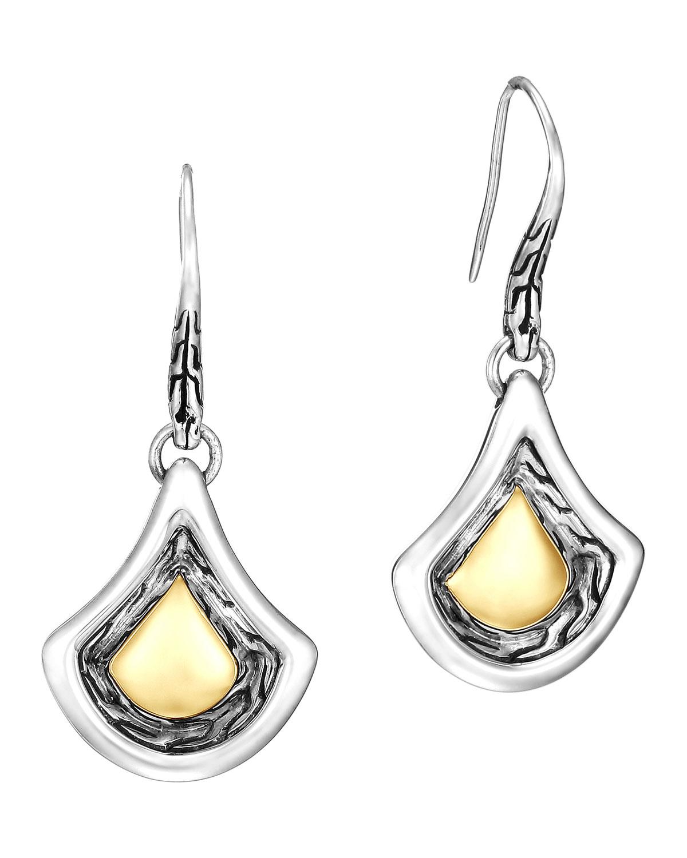 John hardy naga gold silver drop earrings in metallic lyst for John hardy jewelry earrings