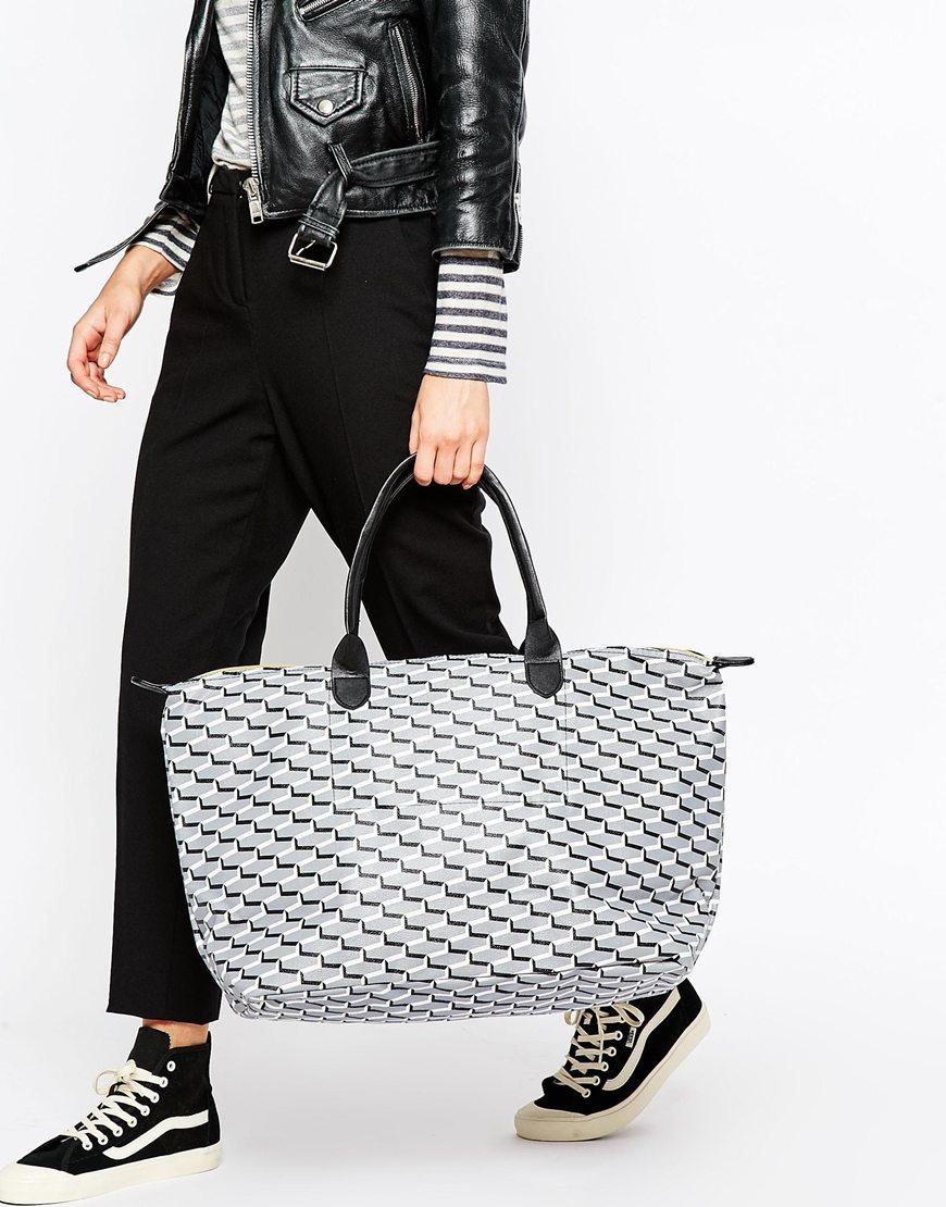 Mi-pac Weekend Bag In Cubes Print in Black | Lyst