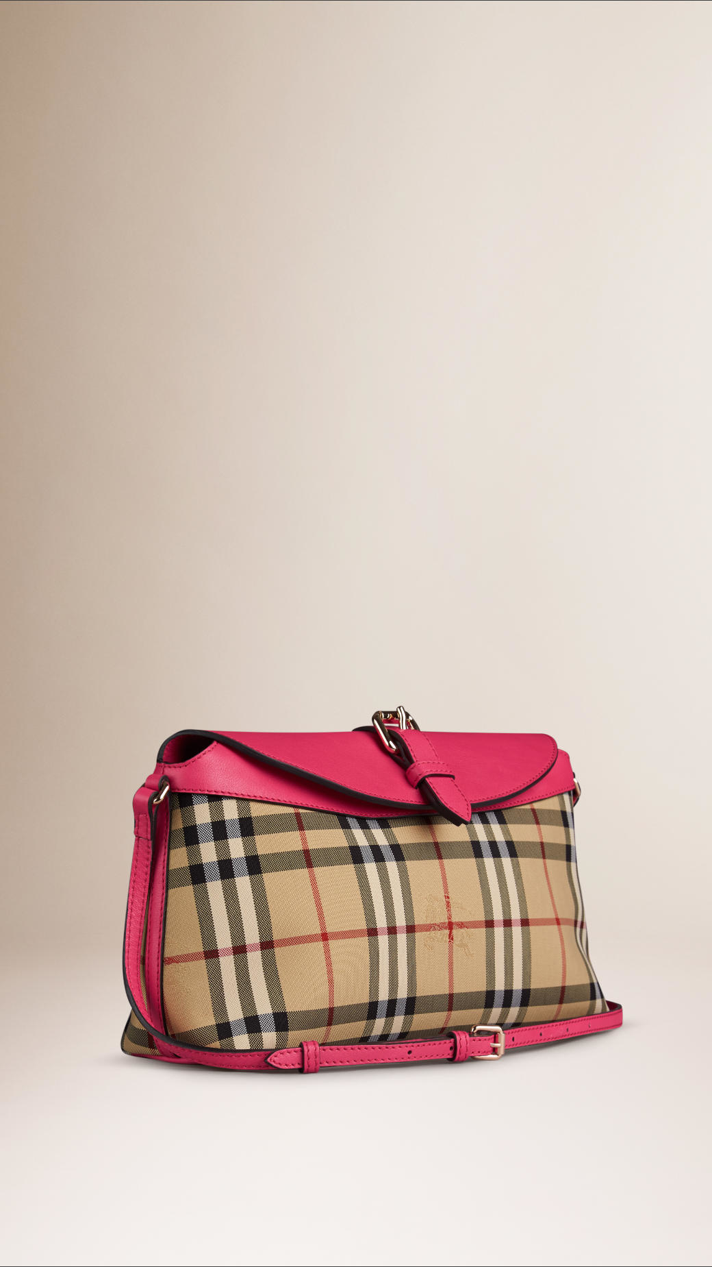 ad0a590c14ab Lyst - Burberry Small Horseferry-Check Clutch Bag in Natural