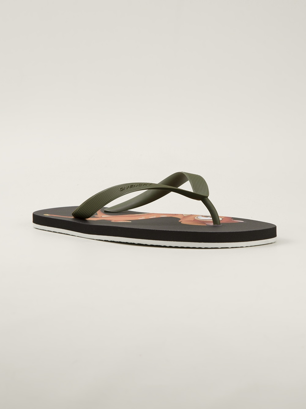 e250785a16cf Lyst - Givenchy Bambi Print Sandals in Green for Men