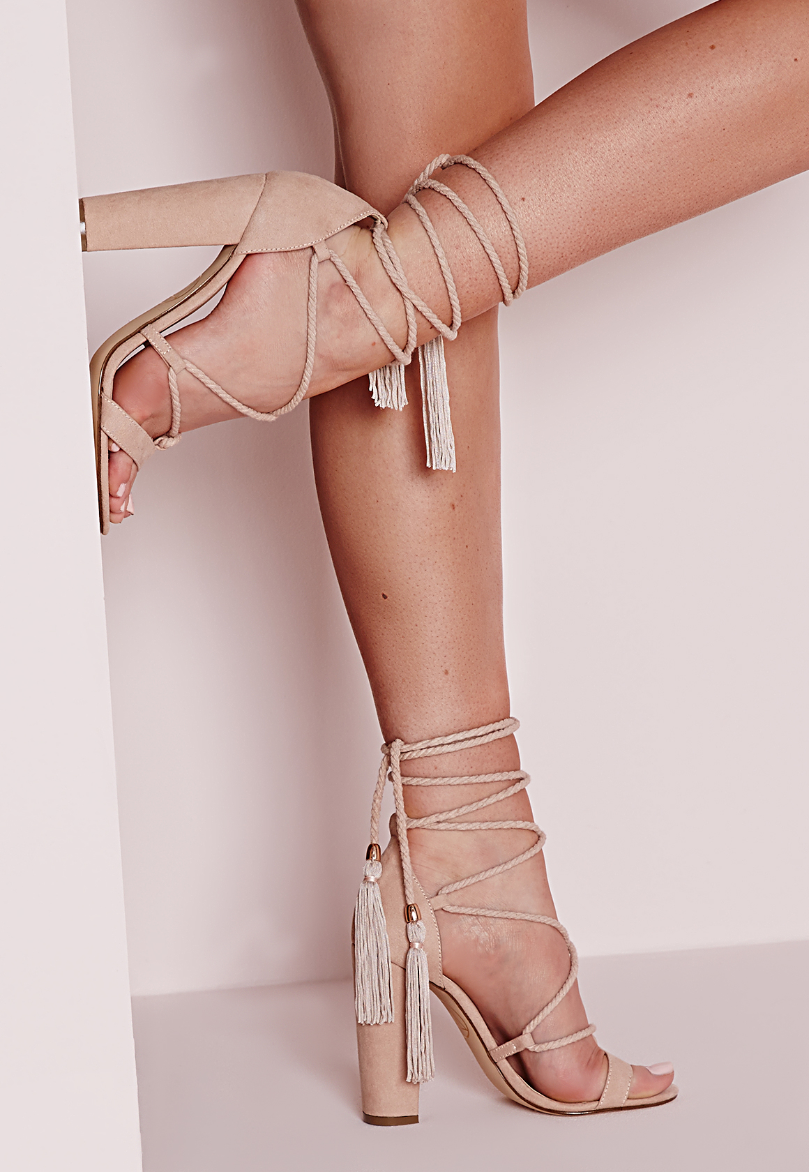 Block Heel Nude Shoes