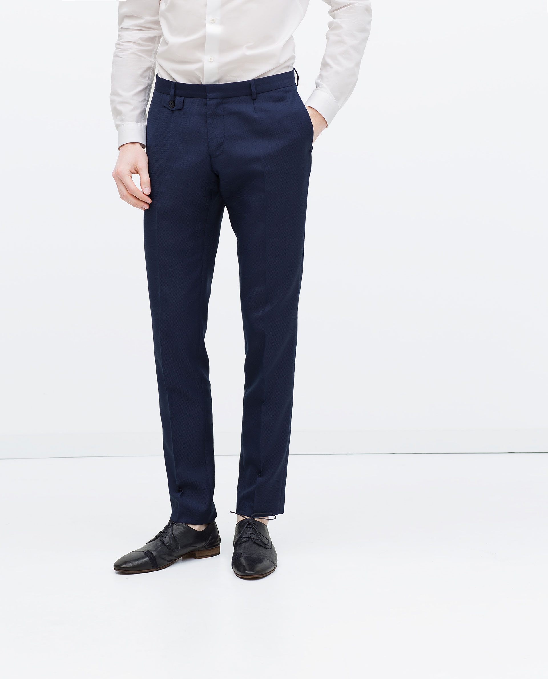 zara suit trousers in blue for lyst