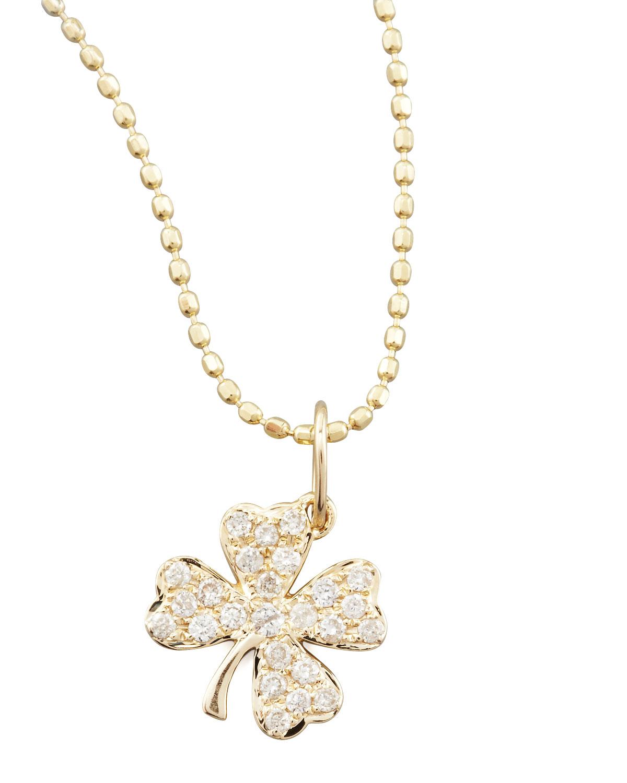 Lyst Sydney Evan Small Diamond Clover Pendant Necklace