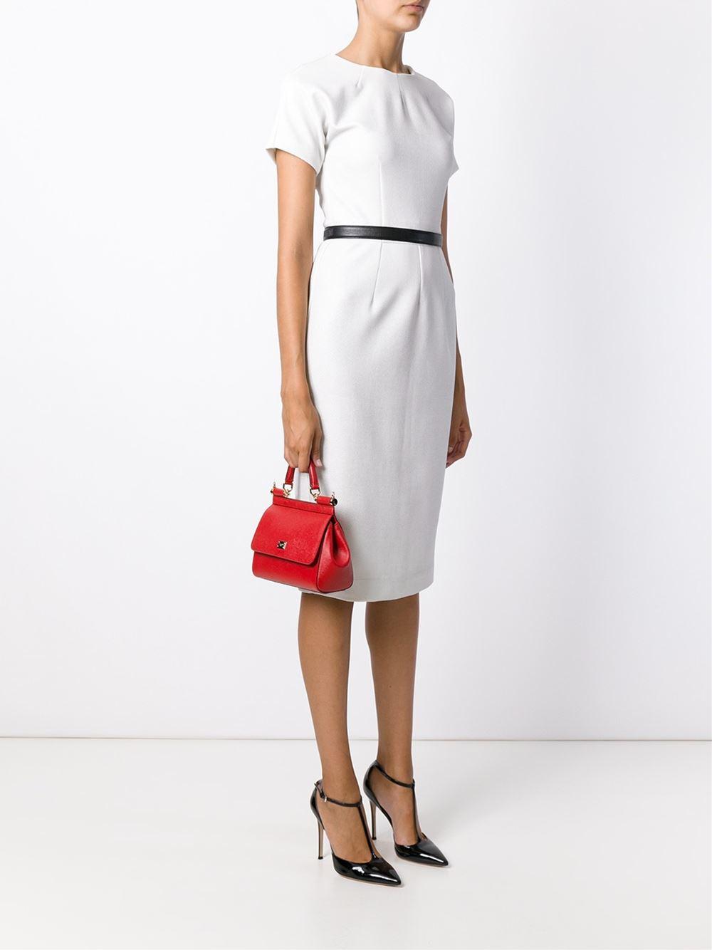 ee005ed0bf2 Dolce & Gabbana Miss Sicily Small Handbag in Red - Lyst