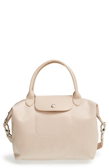 Sac Longchamp Pliage Beige : Longchamp le pliage neo small tote in beige lyst