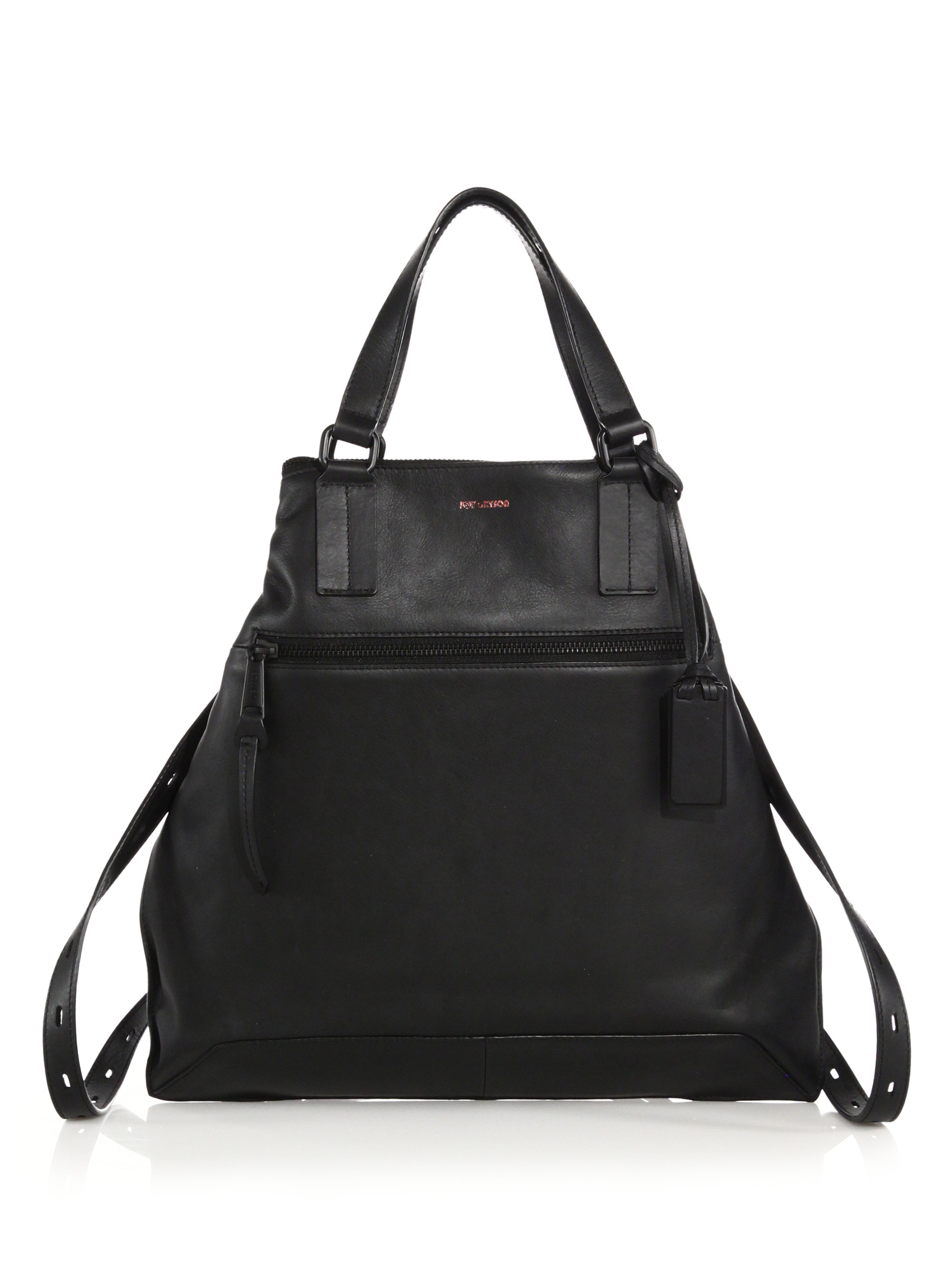 Joy gryson Ryan Convertible Leather Backpack/Tote in Black | Lyst