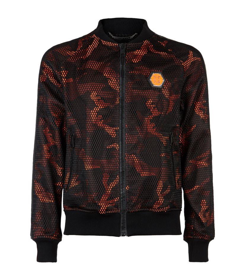 philipp plein apple tree mesh blouson jacket in orange for men lyst. Black Bedroom Furniture Sets. Home Design Ideas