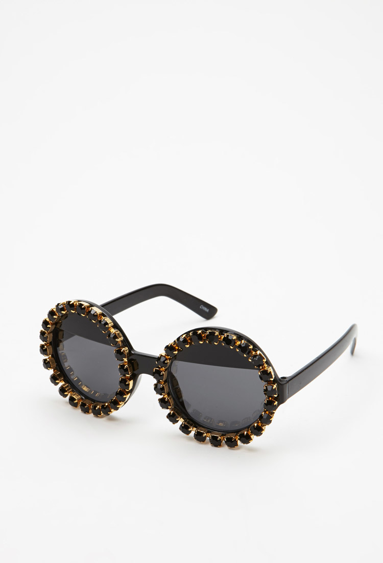 Lyst Forever 21 Rad And Refined Bejeweled Round