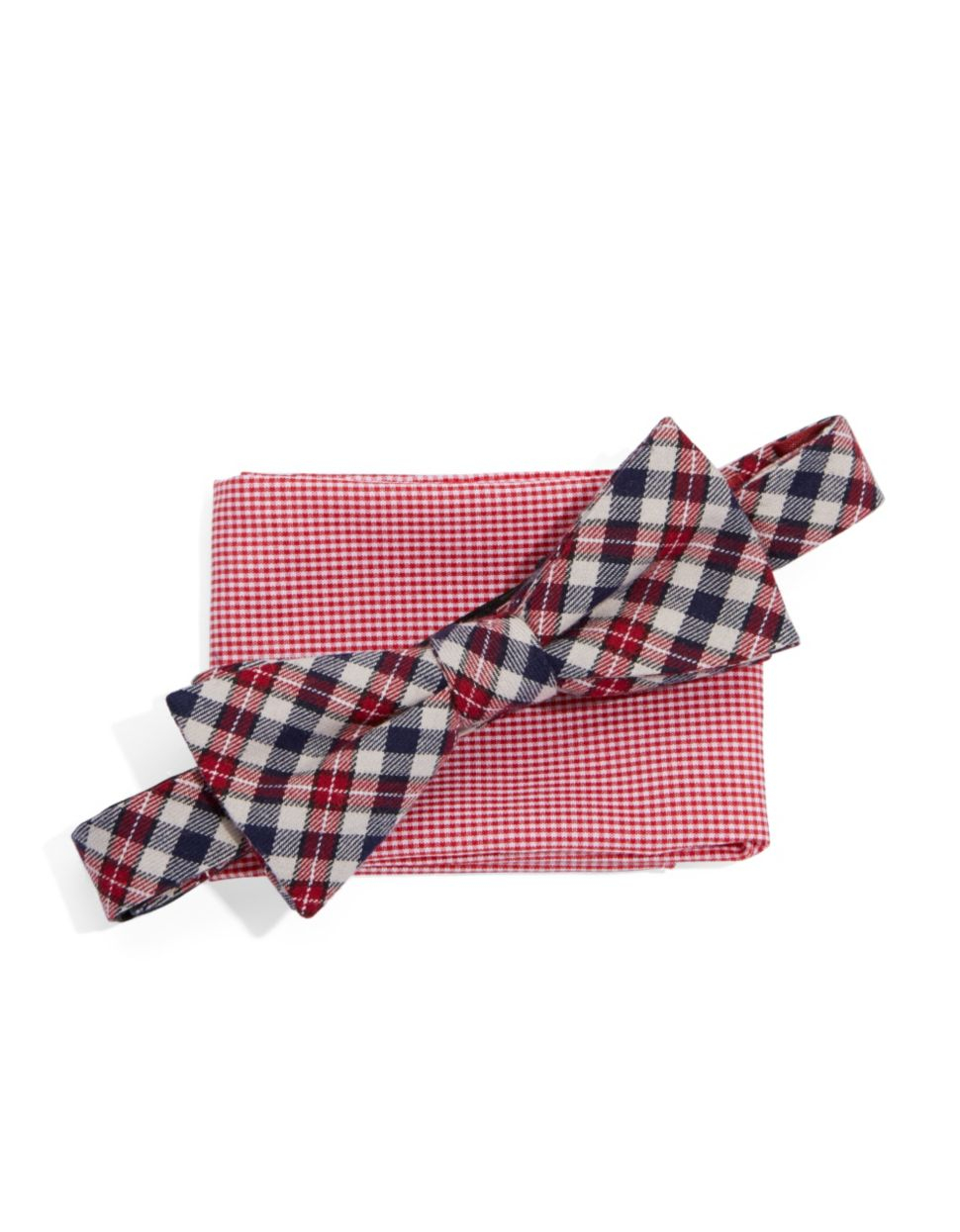 original penguin bow tie and pocket square set in for